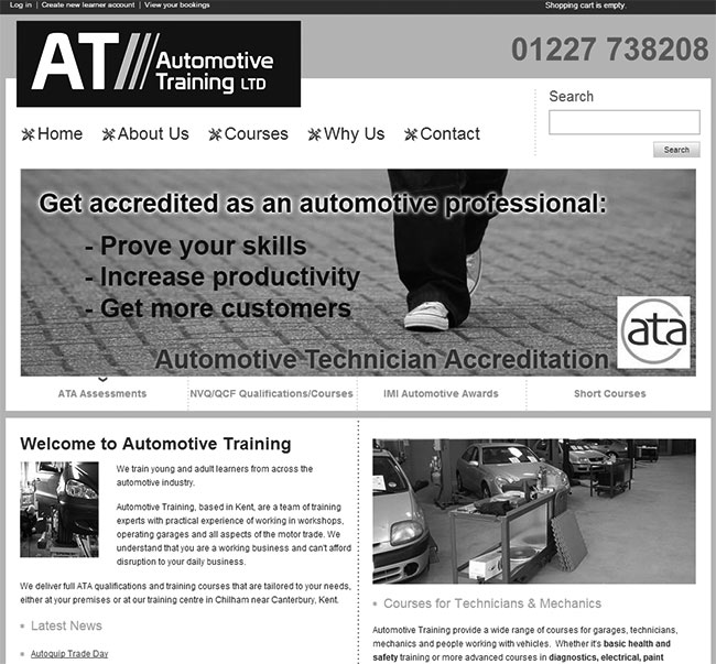 ATA website and crm