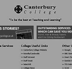 Canterbury College start page