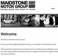 Website design for Maidstone Motor Group
